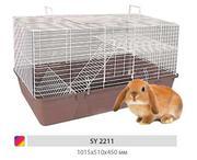 Огромная клетка для кролика
